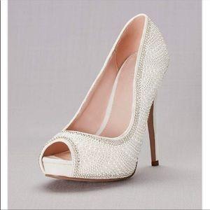 David's Bridal bridal heels
